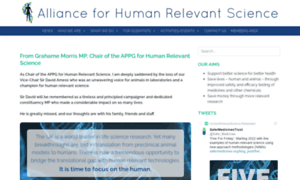 Humanrelevantscience.org thumbnail