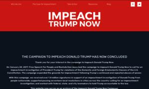 Impeachdonaldtrumpnow.org thumbnail
