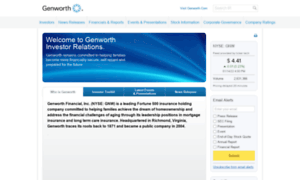 Investor.genworth.com thumbnail