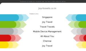 Joy-travels.co.in thumbnail