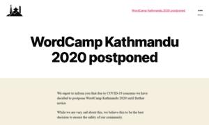 Kathmandu.wordcamp.org thumbnail