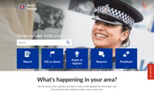 Kent.police.uk thumbnail