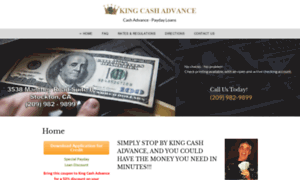 Kingcashadvance.net thumbnail