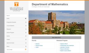 Math.utk.edu thumbnail