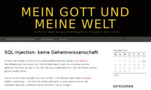 Meingottundmeinewelt.de thumbnail