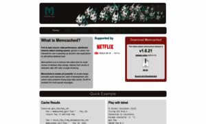 Memcached.org thumbnail