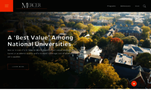 Mercer.edu thumbnail