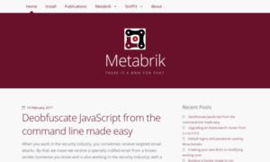 Metabrik.org thumbnail