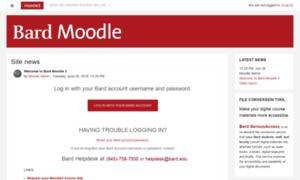 Moodle2.bard.edu thumbnail