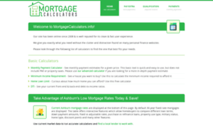 Mortgagecalculators.info thumbnail