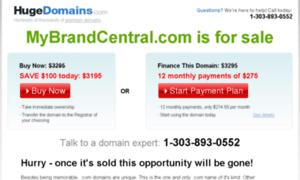 Mybrandcentral.com thumbnail