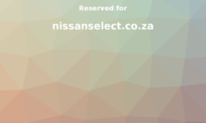 Nissanselect.co.za thumbnail