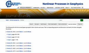 Nonlin-processes-geophys.net thumbnail