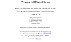 Offshore Git (Offshoregit.com) - OffshoreGit Repo Server