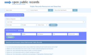 Open-public-records.com thumbnail