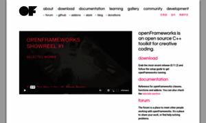 Openframeworks.cc thumbnail