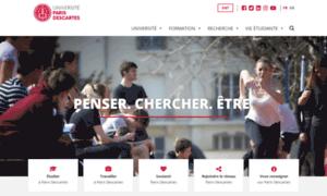 Parisdescartes.fr thumbnail