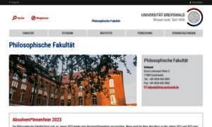 Phil.uni-greifswald.de thumbnail