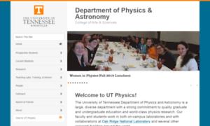 Phys.utk.edu thumbnail