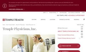 Physicians.templehealth.org thumbnail