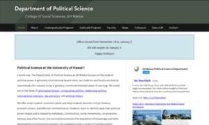 Politicalscience.hawaii.edu thumbnail