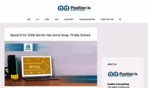 Positioniseverything.net thumbnail