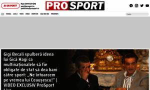 prosport.ro - Știri sportive  Noutăți din fotbal, tenis, handbal  Știri din sport și rezultate live online