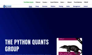 Pythonquants.com thumbnail