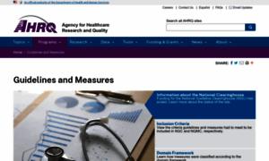 Qualitymeasures.ahrq.gov thumbnail