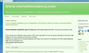 Recruitmentexam.blogspot.in thumbnail