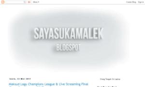 Sayasukamalek.blogspot.com thumbnail