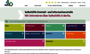 sekis-berlin.de - SEKIS - Selbsthilfe Kontakt und Informationsstelle Wir informieren über Selbsthilfe in Berlin:&nbspSekis