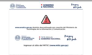 Senatics.gov.py thumbnail