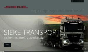 Sieke-transporte.de thumbnail