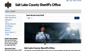 slsheriff.org - Sheriff  SLCo