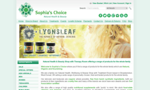 Sophiaschoice.co.uk thumbnail