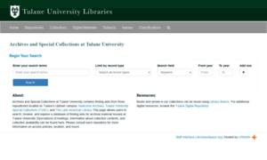 Specialcollections.tulane.edu thumbnail
