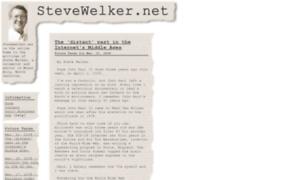Stevewelker.net thumbnail
