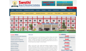 Swathistanfordcolleges.in thumbnail
