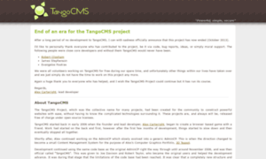 Tangocms.org thumbnail