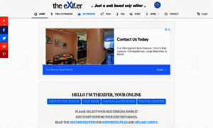 thexifer.net - theXifer.net - Just a Web Based EXIF Editor for Local, Cloud, Flickr, Bootstrap