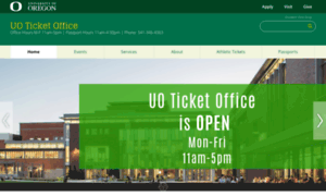 Tickets.uoregon.edu thumbnail