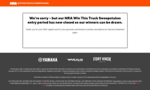 Trucksweepstakes.nra.org thumbnail