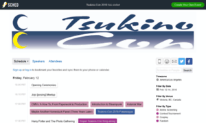 Tsukinocon2016a.sched.org thumbnail