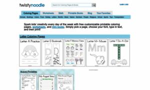 Twistynoodle.com: Coloring Pages - Twisty Noodle