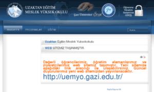 Uemyo.uegazi.edu.tr thumbnail