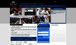 Ugadmissions.nust.edu.pk thumbnail