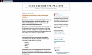 Userexperienceproject.blogspot.com thumbnail