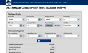 Usmortgagecalculator.org thumbnail