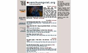 vanchuongviet.org - văn học &amp nghệ thuật